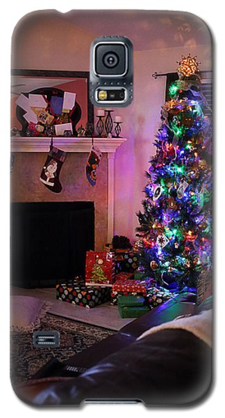 Galaxy S5 Case featuring the photograph Merry Christmas From My Home To Yours by Trish Mistric