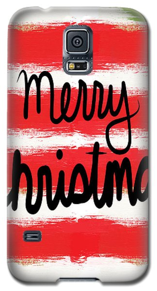 Card Galaxy S5 Case - Merry Christmas- Greeting Card by Linda Woods