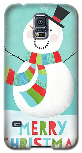 Merry Snowman IIi Galaxy S5 Case by Lamai Mccartan