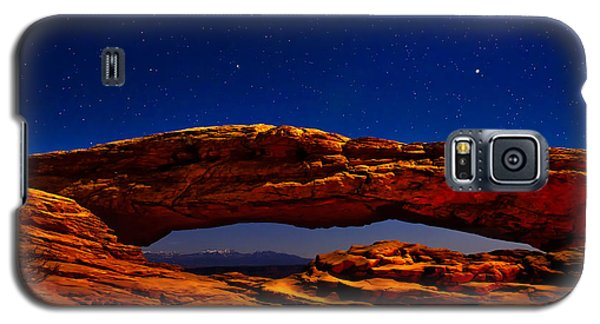 Mesa Arch Night Sky With Shooting Star Galaxy S5 Case