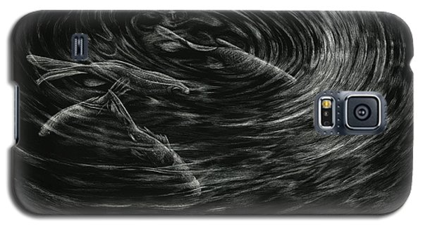 Galaxy S5 Case featuring the drawing Mesmerized by Sandra LaFaut