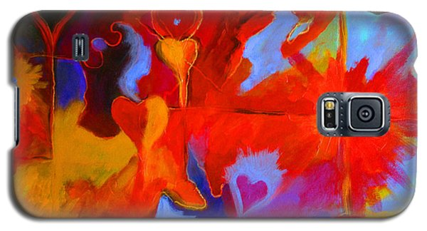 Galaxy S5 Case featuring the painting Message Of Love by Alison Caltrider