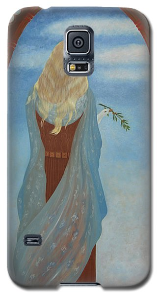 Galaxy S5 Case featuring the painting Messenger by Tone Aanderaa