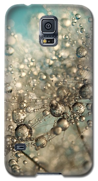 Galaxy S5 Case featuring the photograph Metal Blue Dandy Sparkle by Sharon Johnstone