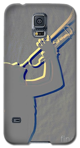 Metal Print Of Trumpet Music Instrument And Girl 3016.04 Galaxy S5 Case