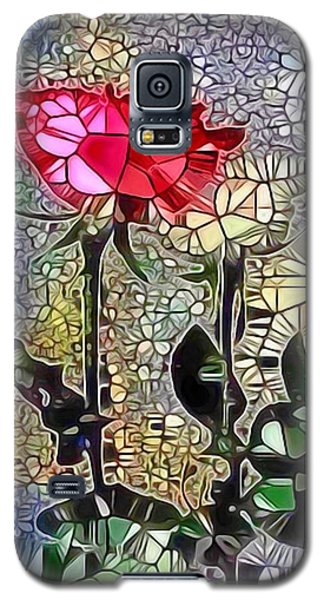 Galaxy S5 Case featuring the painting Metalic Rose by Catherine Lott