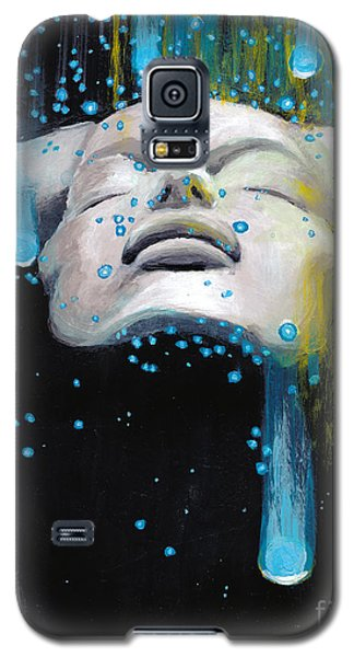 Galaxy S5 Case featuring the painting Meteor Shower by Denise Deiloh