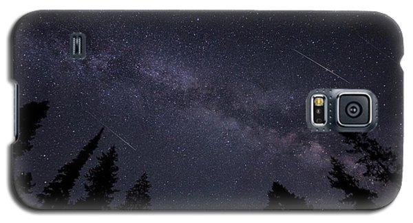 Meteors And The Milky Way Galaxy S5 Case