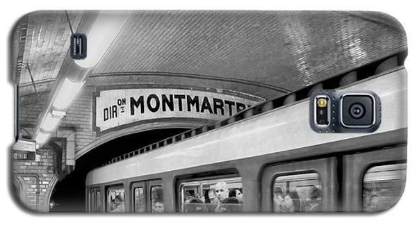Galaxy S5 Case featuring the photograph Metro At Montmartre. Paris by Jennie Breeze