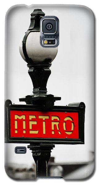 Metro Sign In Paris Galaxy S5 Case by MaryJane Armstrong