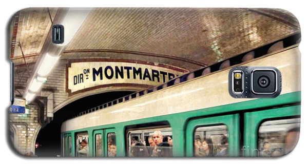 Galaxy S5 Case featuring the photograph Metro To Montmartre. Paris   by Jennie Breeze