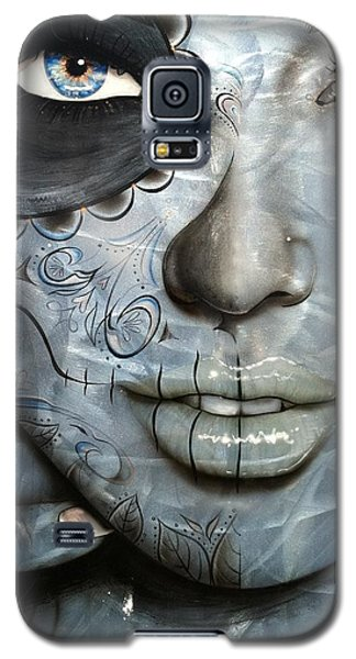 Sugar Skull - ' Metallic Messiah ' Galaxy S5 Case by Christian Chapman Art