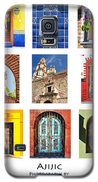 Colorful Mexican Doors, Ajijic Mexico - Travel Photography By David Perry Lawrence Galaxy S5 Case by David Perry Lawrence