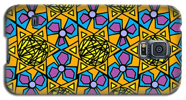 Galaxy S5 Case featuring the digital art Mexican Sun / African Violet by Elizabeth McTaggart