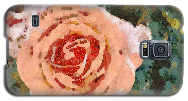 Galaxy S5 Case featuring the painting Alameda Meyers House Garden Klimt Rose by Linda Weinstock