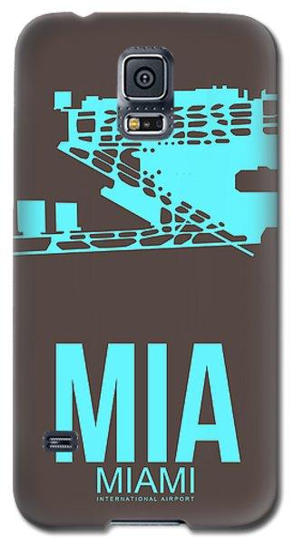 Mia Miami Airport Poster 2 Galaxy S5 Case by Naxart Studio