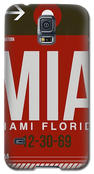 Mia Miami Airport Poster 4 Galaxy S5 Case by Naxart Studio