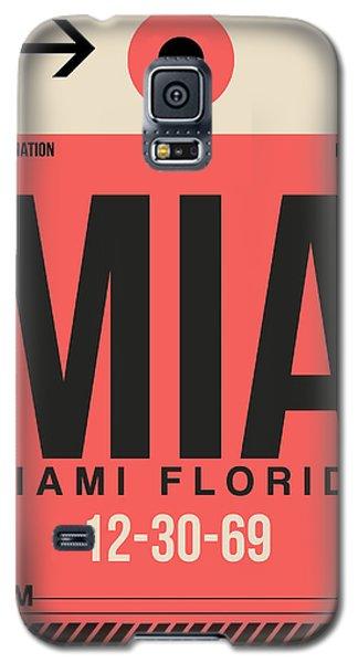 Miami Galaxy S5 Case - Miami Airport Poster 3 by Naxart Studio