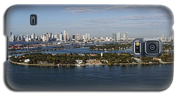 Miami And Star Island Skyline Galaxy S5 Case