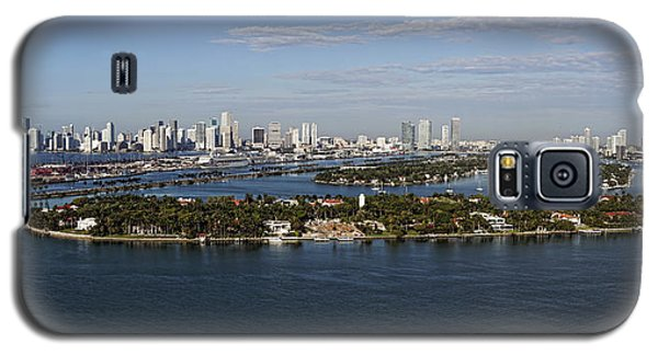 Galaxy S5 Case featuring the photograph Miami And Star Island Skyline by Gary Dean Mercer Clark