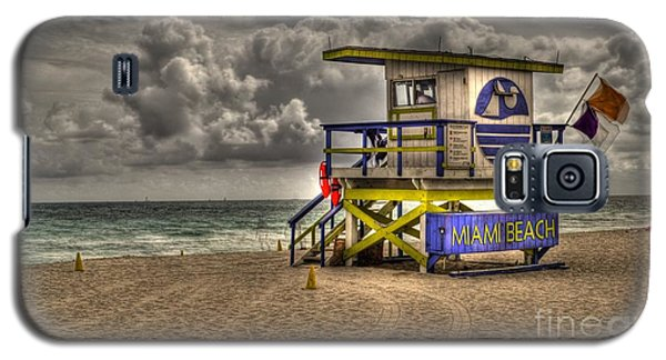 Galaxy S5 Case featuring the photograph Miami Beach Lifeguard Stand by Timothy Lowry