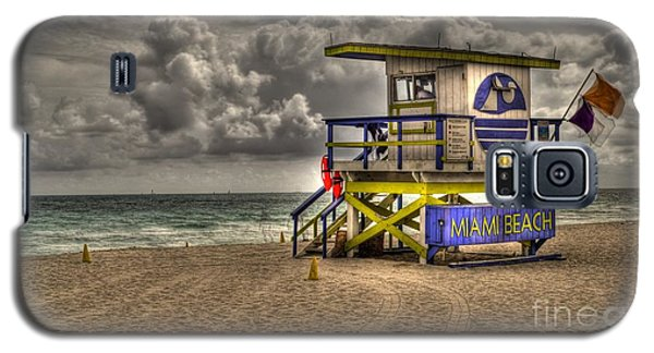 Miami Beach Lifeguard Stand Galaxy S5 Case by Timothy Lowry