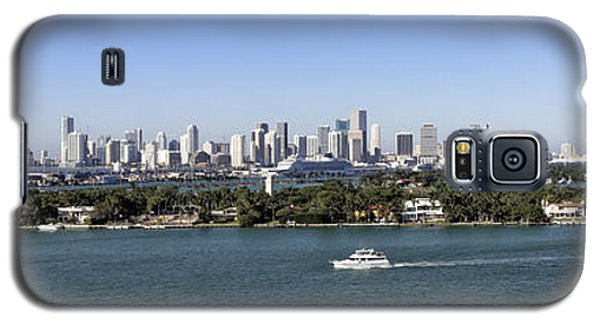 Galaxy S5 Case featuring the photograph Miami Daytime Panorama by Gary Dean Mercer Clark