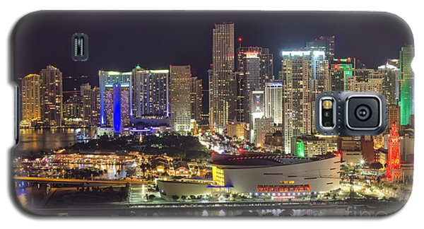Miami Downtown Skyline American Airlines Arena Galaxy S5 Case