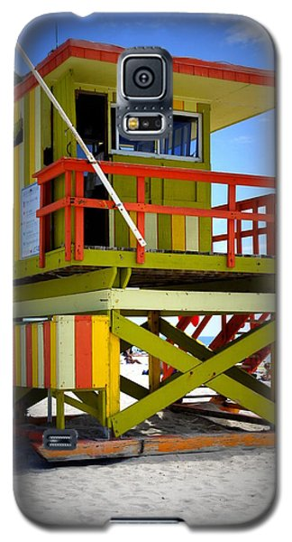 Galaxy S5 Case featuring the photograph Miami Shack by Laurie Perry