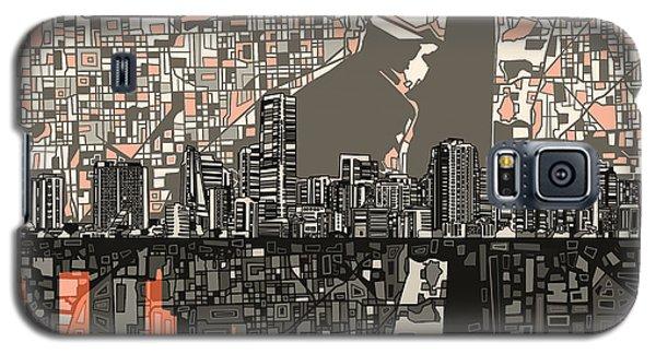 Miami Skyline Abstract 2 Galaxy S5 Case