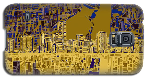 Miami Skyline Abstract 3 Galaxy S5 Case