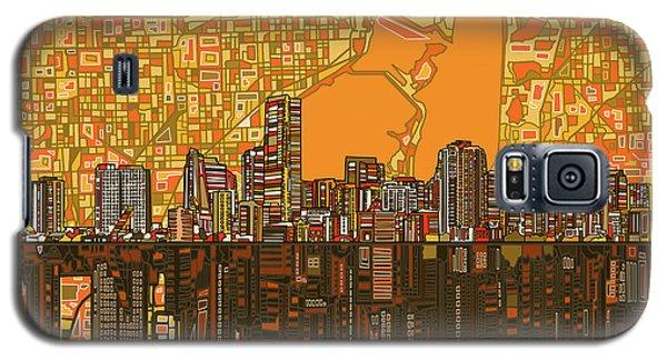 Miami Skyline Abstract 5 Galaxy S5 Case