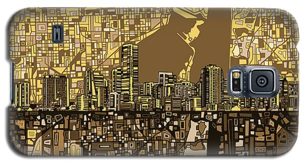Miami Skyline Abstract 6 Galaxy S5 Case