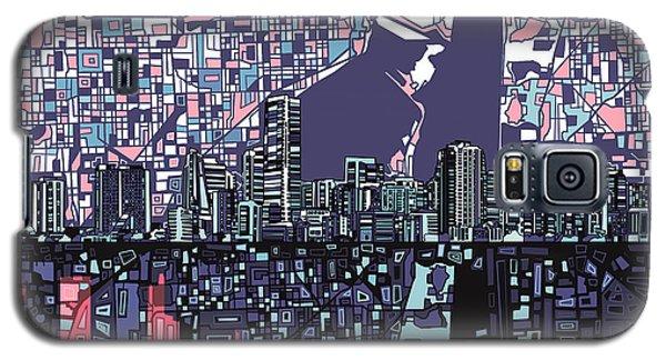 Miami Skyline Abstract Galaxy S5 Case