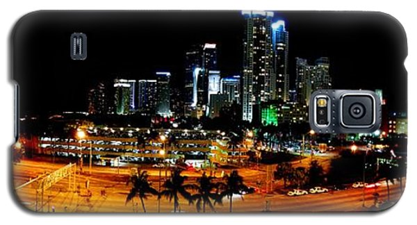 Galaxy S5 Case featuring the photograph Miami Skyline by J Anthony