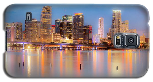 Miami Skyline On A Still Night- Soft Focus  Galaxy S5 Case