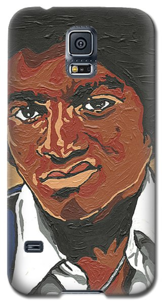 Galaxy S5 Case featuring the painting Michael Jackson by Rachel Natalie Rawlins