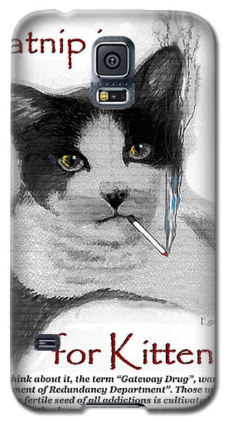 Michael's Smoking Cat Galaxy S5 Case