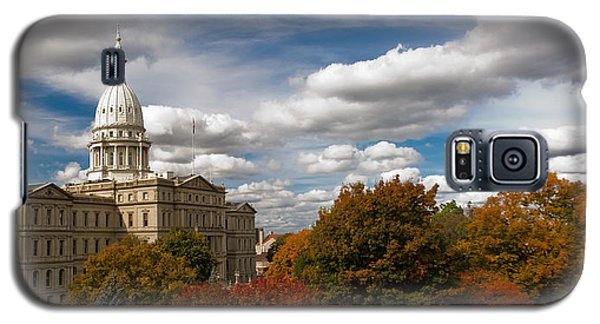 Michgan Capitol - Autumn Galaxy S5 Case by Larry Carr