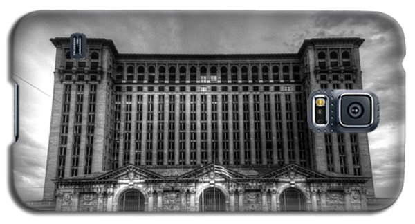 Michigan Central Station Bw Galaxy S5 Case