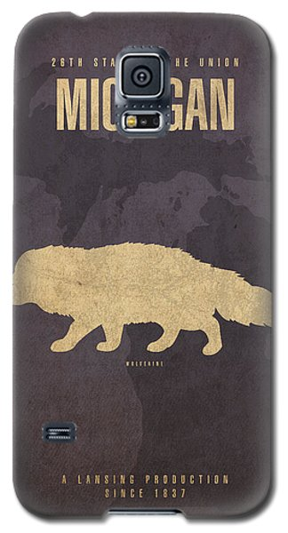 Michigan State Facts Minimalist Movie Poster Art  Galaxy S5 Case by Design Turnpike