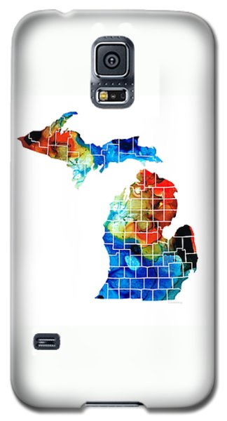 Michigan State Map - Counties By Sharon Cummings Galaxy S5 Case