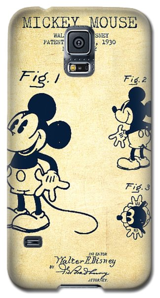 Mickey Mouse Patent Drawing From 1930 - Vintage Galaxy S5 Case