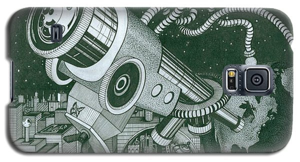 Microscope Or Telescope Galaxy S5 Case by Richie Montgomery