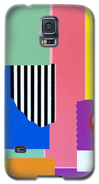 Galaxy S5 Case featuring the painting Mid Century Compromise by Thomas Gronowski
