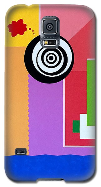 Galaxy S5 Case featuring the painting Mid Century Conflict by Thomas Gronowski