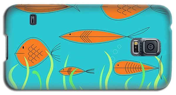 Mid Century Fish 2 Galaxy S5 Case
