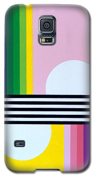 Galaxy S5 Case featuring the painting Mid Century Resolution by Thomas Gronowski