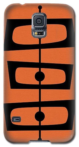 Mid Century Shapes On Orange Galaxy S5 Case