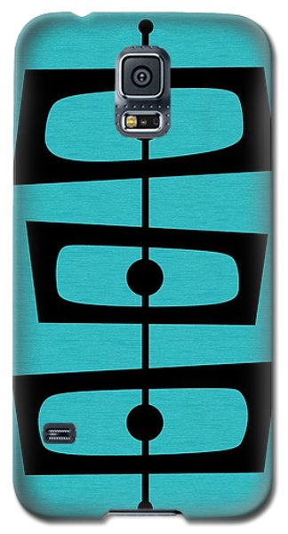 Mid Century Shapes On Turquoise Galaxy S5 Case